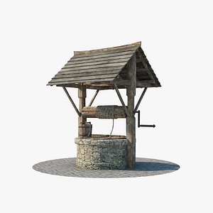 3D Medieval well