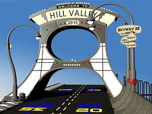3D model Back to the Future the Ride Hill Valley 2015 welcome sign
