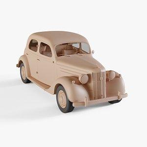 1947 Ford V8 Pilot 3D model