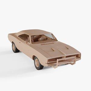 3D 1969 Dodge Charger General Lee