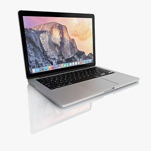 3d model new macbook pro retina