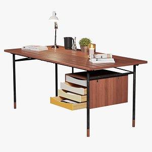 Vintage Retro Mid-Century Desk from Bovirke - Fully PBR 3D model