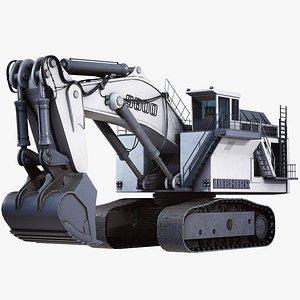 3D model excavator liebherr r9800