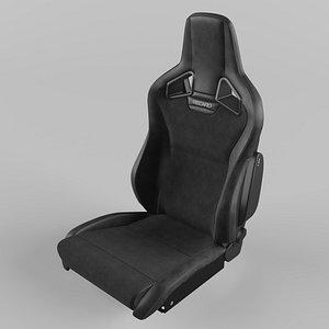 3D RECARO Cross Sportster CS Vinyl black Dinamica suede black Seat model