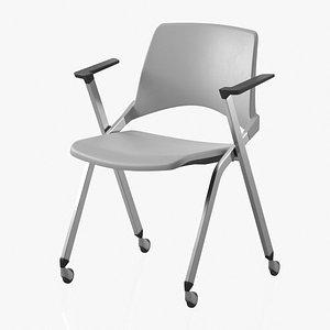 3D Office Chair Gray