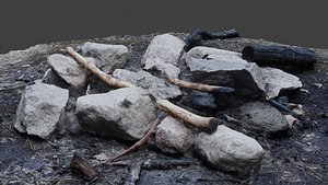 3D scanned campfire