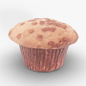 chocolate muffin 3D model