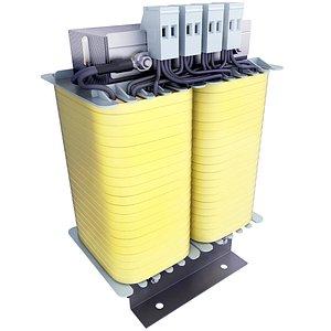 3D model transformer electrical single