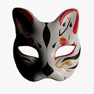 kitsune mask fox 3D