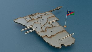 3D namibia provinces state model