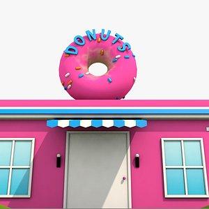 3D Donuts Candy shop model