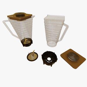 3D vintage blender pitcher jar