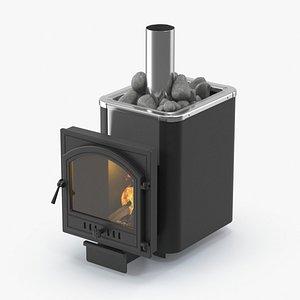 bath stove 3D model