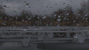 3D Raindrops on the lake