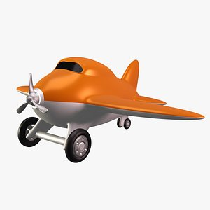 Toy Airplane 02 3D model