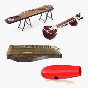 Traditional Stringed Instruments Collection 3D model