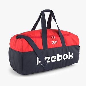 3D model Reebok Active Core Grip Bag Navy Red