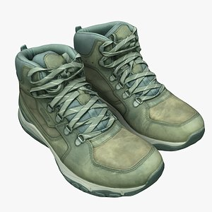hiking boots shoes 3D model