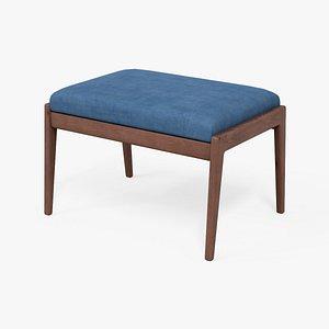 3D Chayne rectangle standard Ottoman azure blue
