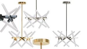 3D model chandelier astral agnes