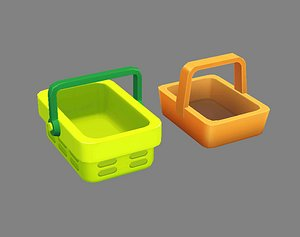 Cartoon vegetable basket - shopping basket - Carrying basket model