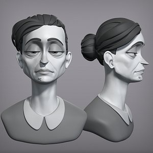 3D Cartoon female character Gloria base mesh