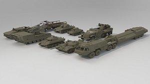 3D model Vehicle Set