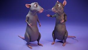 cartoon rat 3D