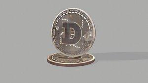 3D cash coin money model