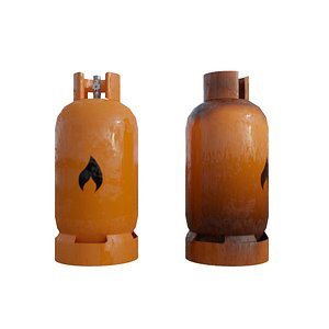 Lowpoly PBR Game-Ready Gas Tank Pack - Rusty and Regular. 3D