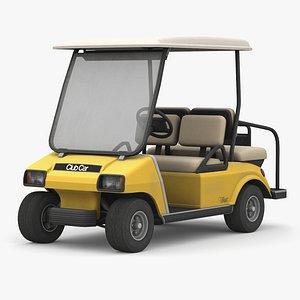 3D Yellow ClubCar