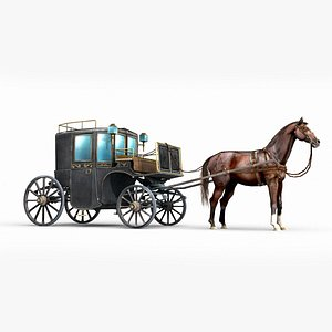 ancient luxury carriage 3D