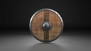 3D shield viking model