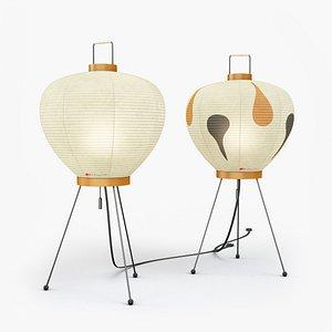 AKARI 3A-3AD Lamps by Isamu Noguchi model