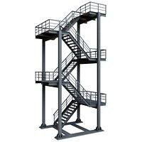 Grey Industrial Stair
