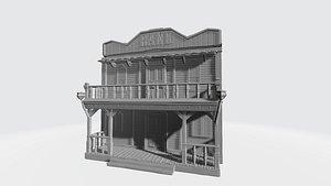 3D wild west bank