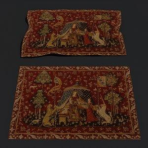 3D carpet tapestry model