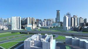 3D city architecture cityscape