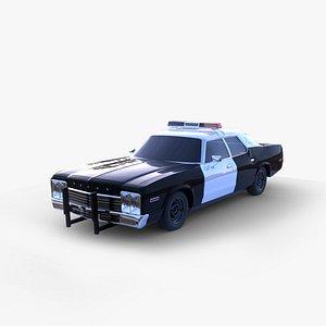 3D model 1970s Police car