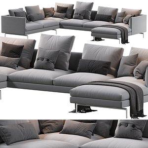 flamingo sofa 3D model