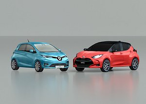 set toyota yaris 2020 3D model
