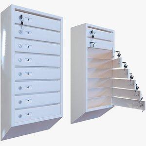 3D postbox mailbox