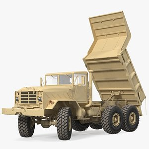 M939 Military Dump Truck Light Rigged 3D
