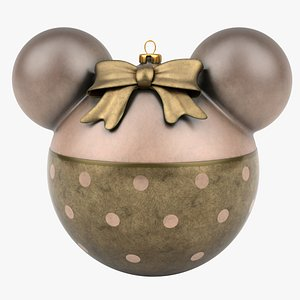 christmas ball minnie mouse 3D model