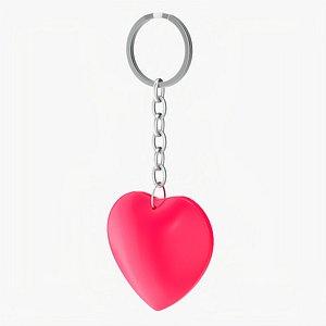 Keychain heart shaped 01 model