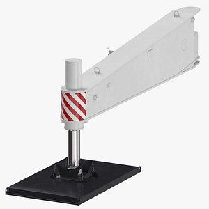 3D crane outrigger large 04 model