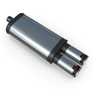3D exhaust rear muffler