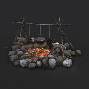 3D model Camping Fire Pit