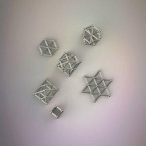 3D magnetic bars balls