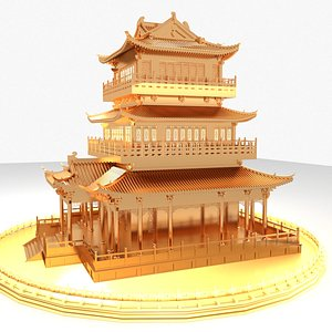 chinese ancient house model
